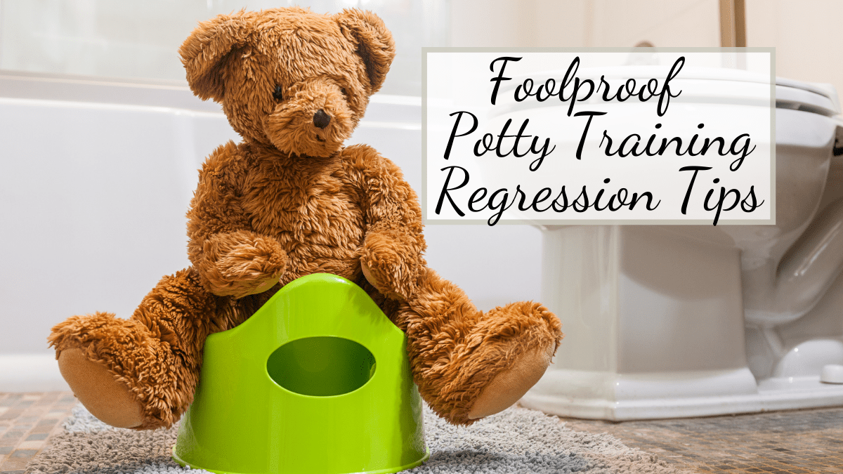 feature image of post on potty training regression