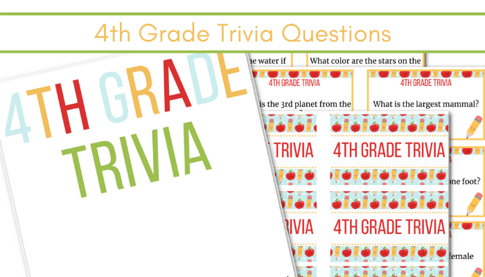 feature image of 4th grade trivia questions printable cards