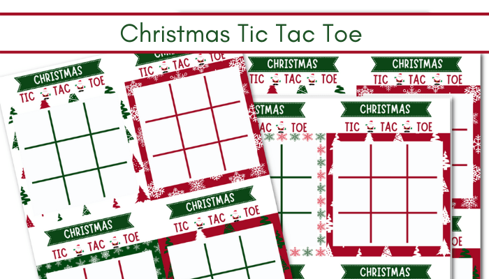 picture of Christmas Tic Tac Toe Cards