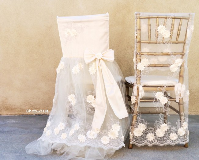 10 Adorable Wedding Chair Signs & Chair Covers