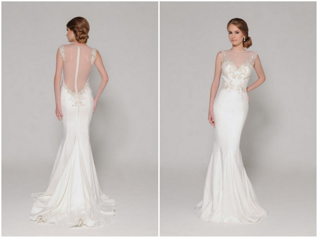 Sheer And Lace Wedding Dress_Wedding Dresses_dressesss