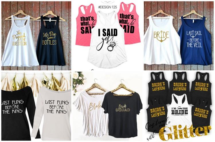 30+ Cutest Bridesmaid Shirts And Bridal Party T-Shirts Around