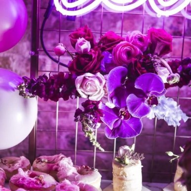 Pink and purple florals