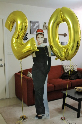 Yes...we have a cardboard cutout of Audrey Hepburn but that is a story for another post!