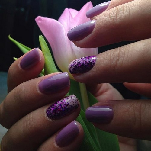Fashionable manicure with sparkles and glitter: photos, the best ideas 34