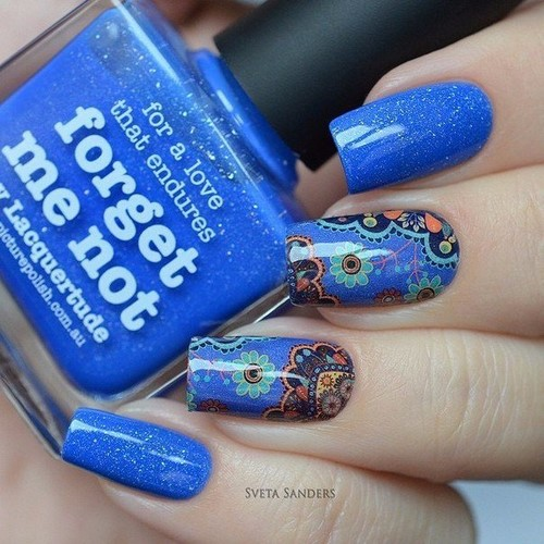 Fashionable manicure with sparkles and glitter: photos, the best ideas 13