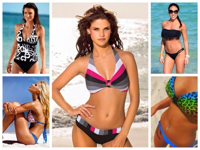 Swimsuit options for Pears