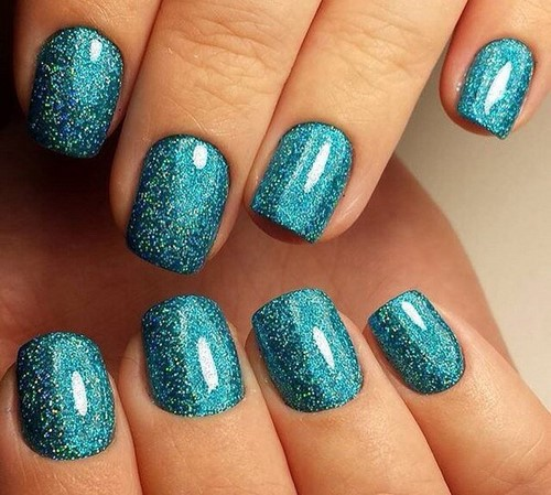 Fashionable manicure with sparkles and glitter: photos, the best ideas 42