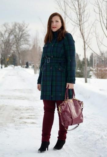 set with a coat of medium length