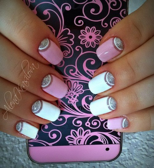 Fashionable manicure with sparkles and glitter: photos, the best ideas 35