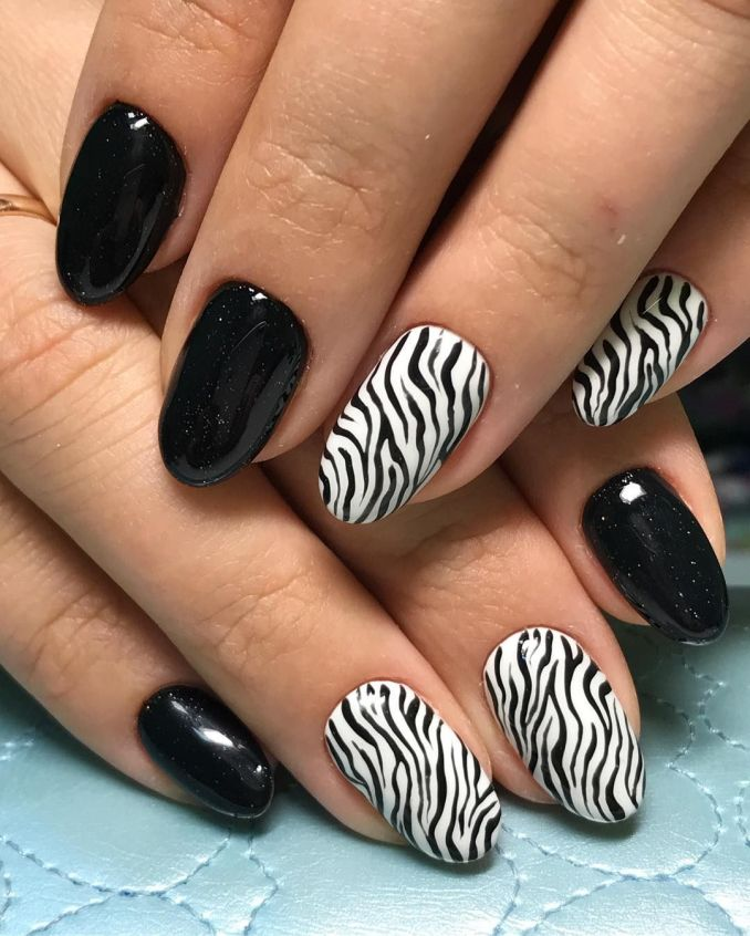Manicure with a print: options for design 13