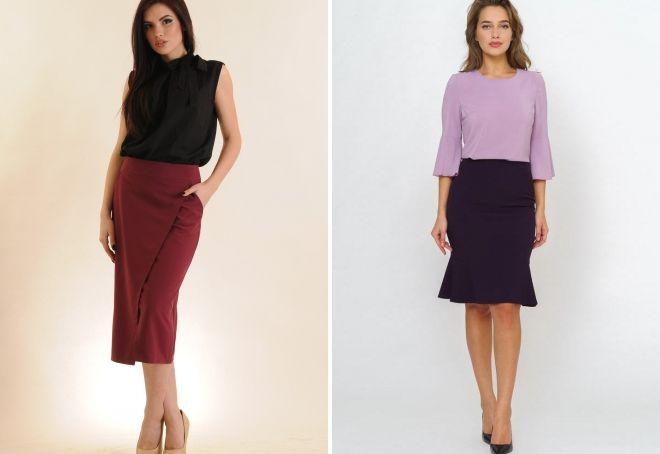 eggplant skirt