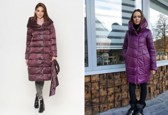 what to wear with an eggplant down jacket