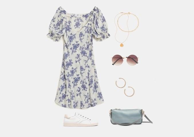 Summer set with white chiffon dress