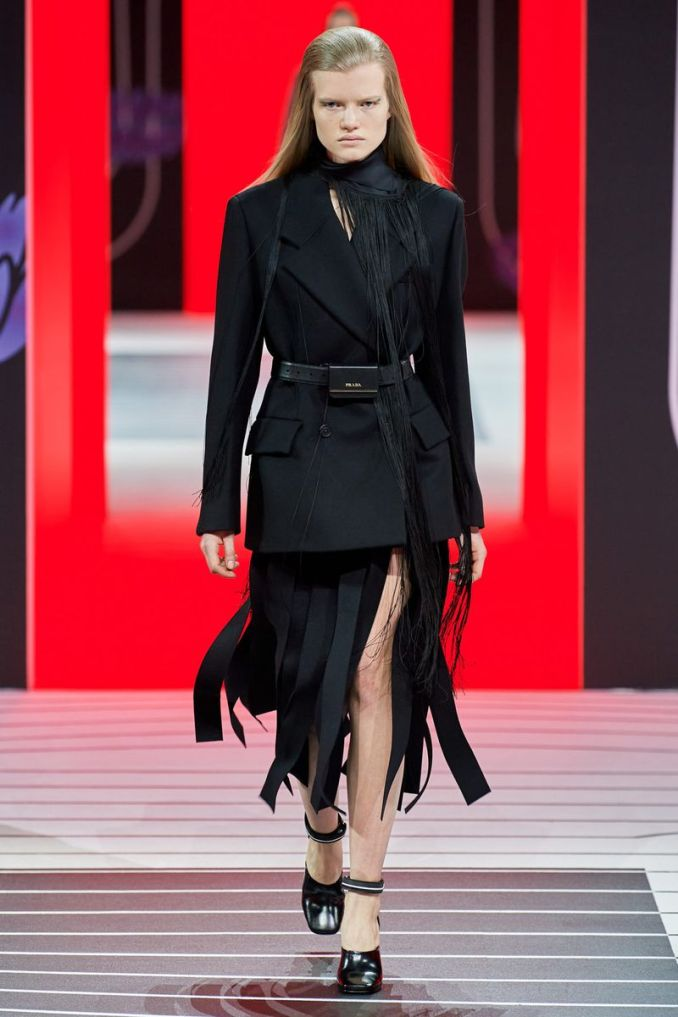 Fashionable skirt fall-winter 2020-2021 from the Prada collection