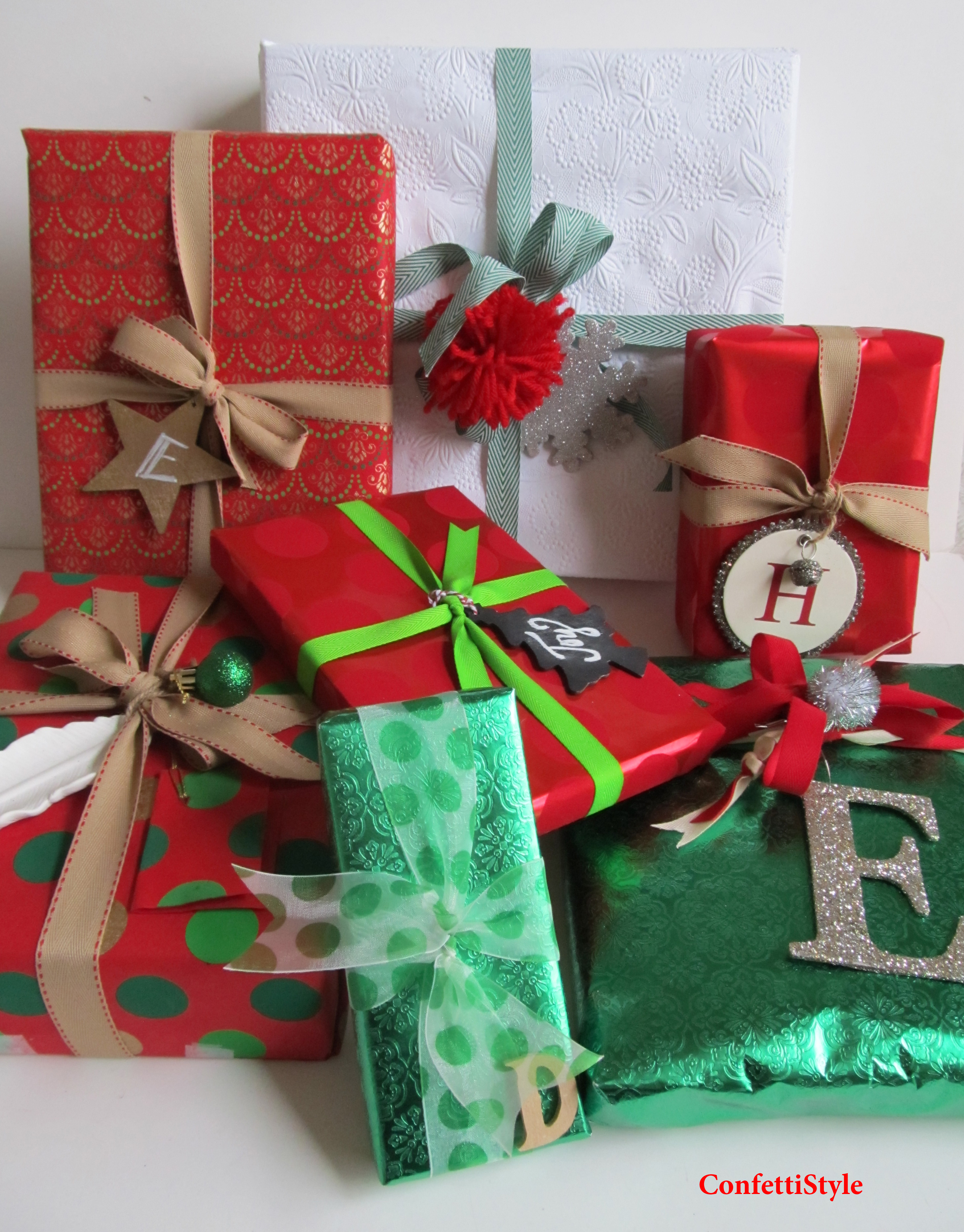 Holiday Gift Wrap--Design is in the Details   ConfettiStyle