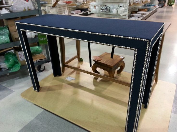 Diy Inspiration Fabric Covered Console Tables Confettistyle