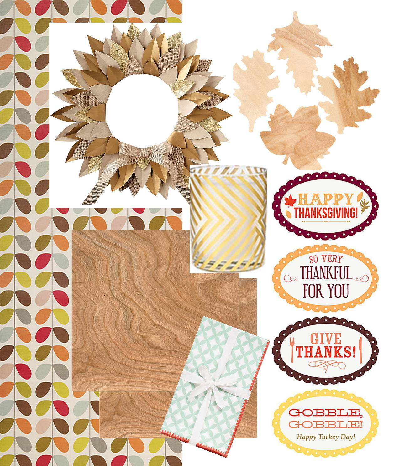 I Love Using Wrapping Paper As A Table Runner And This Multi Stem Flower Wrapping  Paper Is The Perfect Color And Pattern For A Festive Thanksgiving Table.