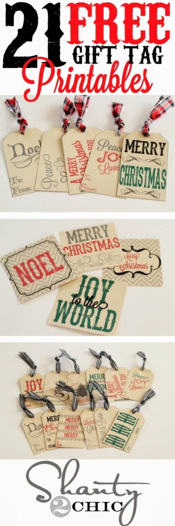 21 free printable gift tags--Shanty 2 Chic