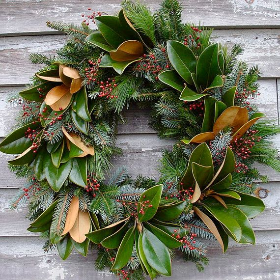 magnolia leaf wreath - Magnolia Christmas Decor