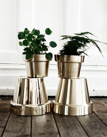 Spary Painted Planters