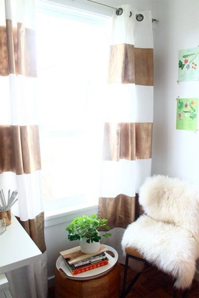 Spray Painted Curtains