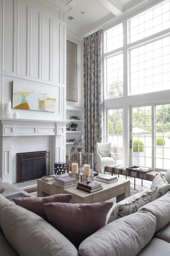 Window treatments for tall windows tips inspiration High ceiling window treatments