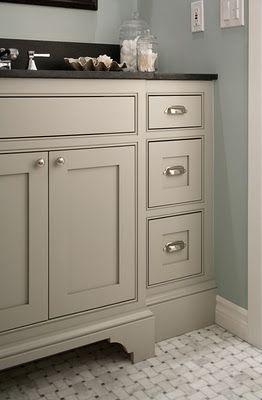 taupe bathroom cabinets