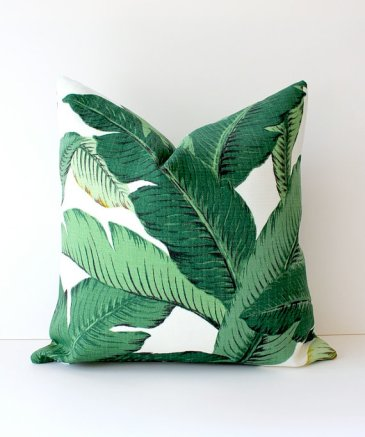 Beverly Tropical Palm Pillow