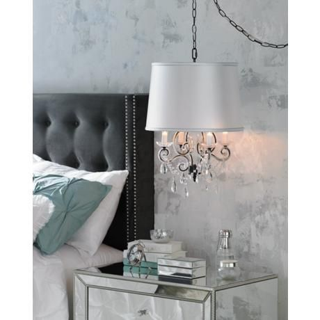 bedrooms hanging chandelier