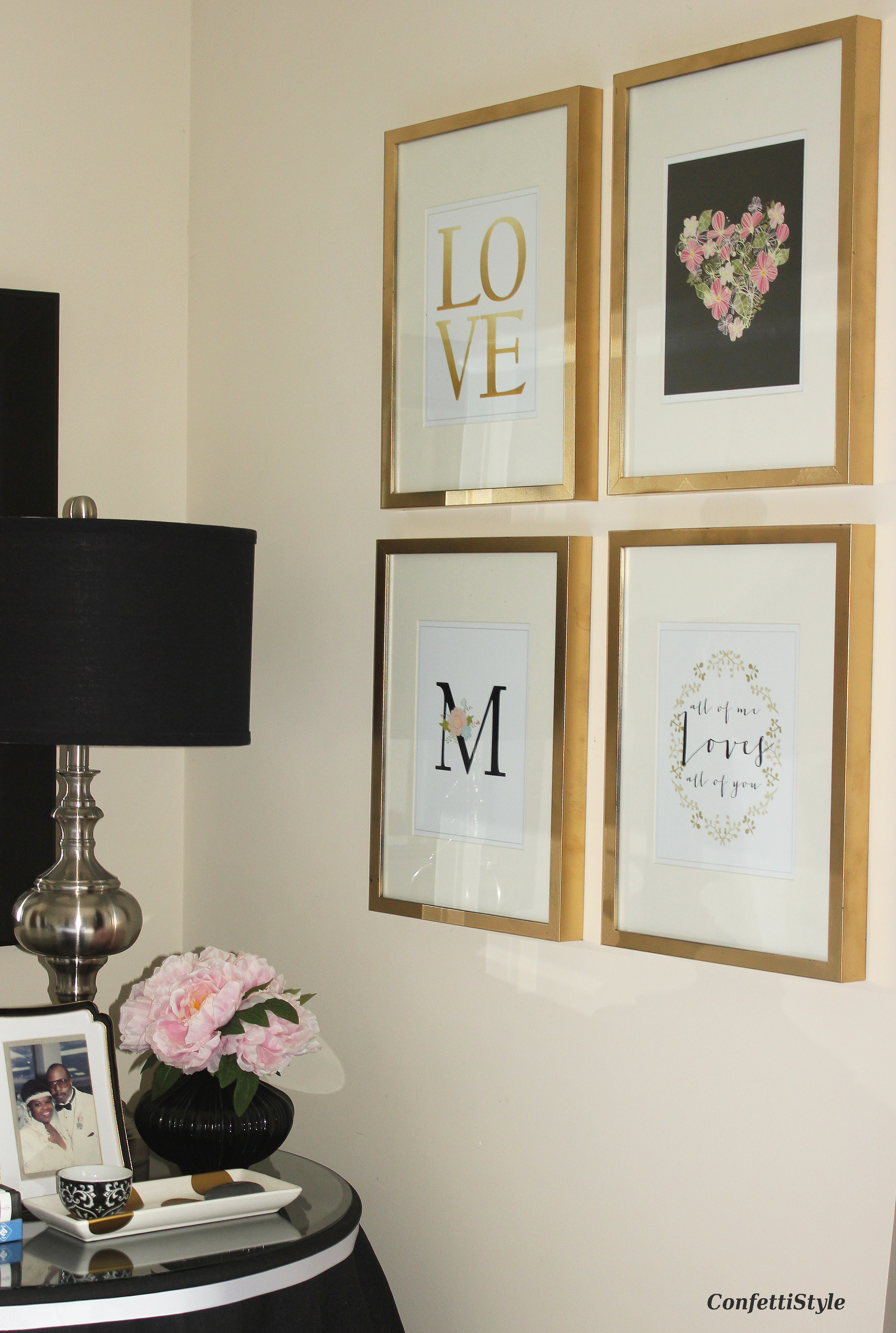 Printable art my love note designs confettistyle for Gold paint bedroom ideas