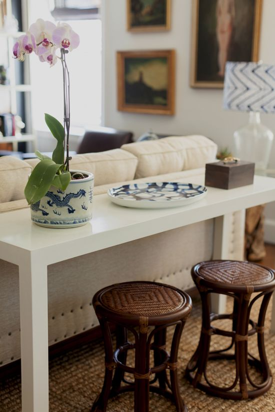 Console Table Archives Confettistyle - Sofa Table With Stools Underneath