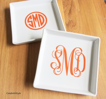 DIY Monorgram Dish by ConfettiStyle4