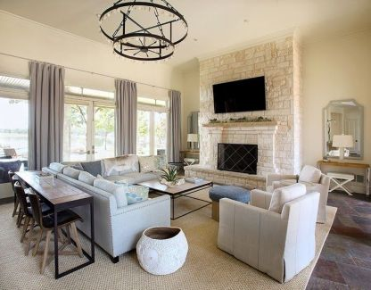 Sectional with table via Mix and Chic
