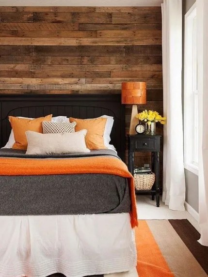 Orange and Grey Bedroom via BHG2