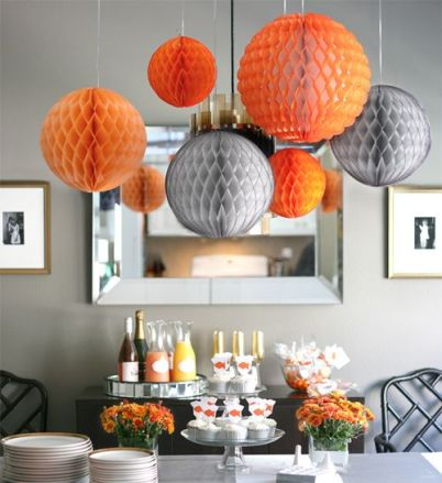 Orange and grey party via en.paperblog