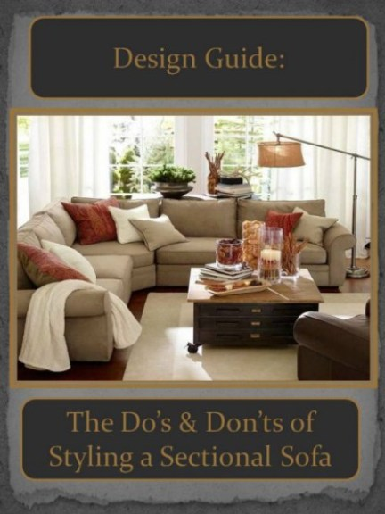 DESIGN GUIDES--Styling a Sectional Sofa