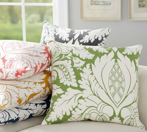 Damask Print Pillow Cover--Pottery Barn