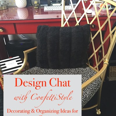Design Chat:  Office Organization & Decorating Ideas