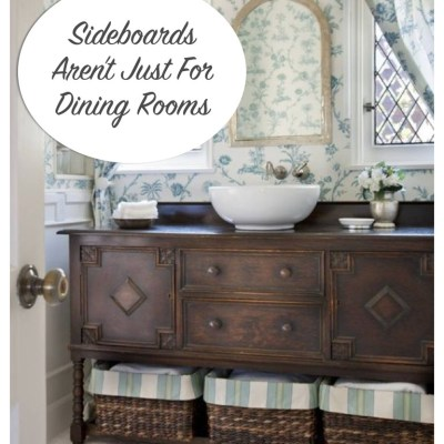 Sideboards Aren't Just For Dining Rooms