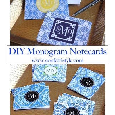 DIY Monogram Notecards–Chinoiserie Style