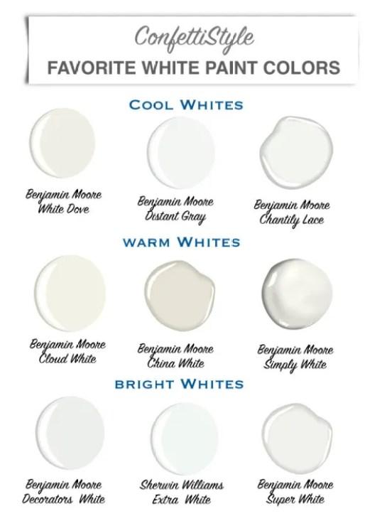 Design Guide My Favorite White Paint Colors Confettistyle