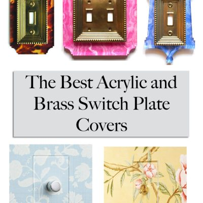 Design Detail: Stylish Acrylic & Brass Switch Plate Covers
