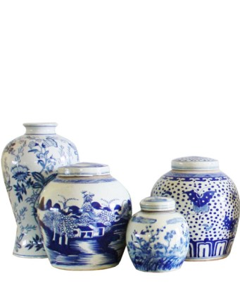 Blue and Whtie Ginger Jars