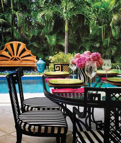 Chinoiserie Styled Outdoor Space