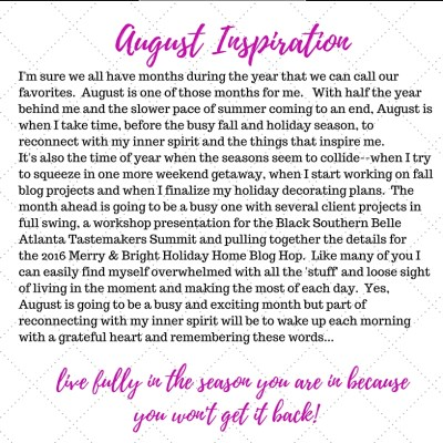My Inspiration Notebook–August 2016