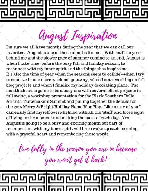 Inspiration Notebook--August 2016