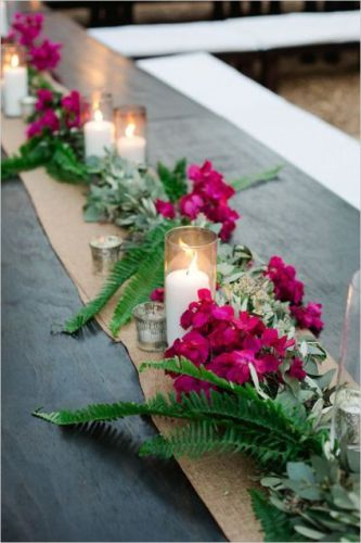 Floral and Greenery Centerpiece
