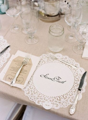 Paper Dollie Place Setting