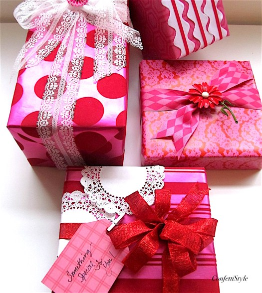 Pink and Red Gift Wrap